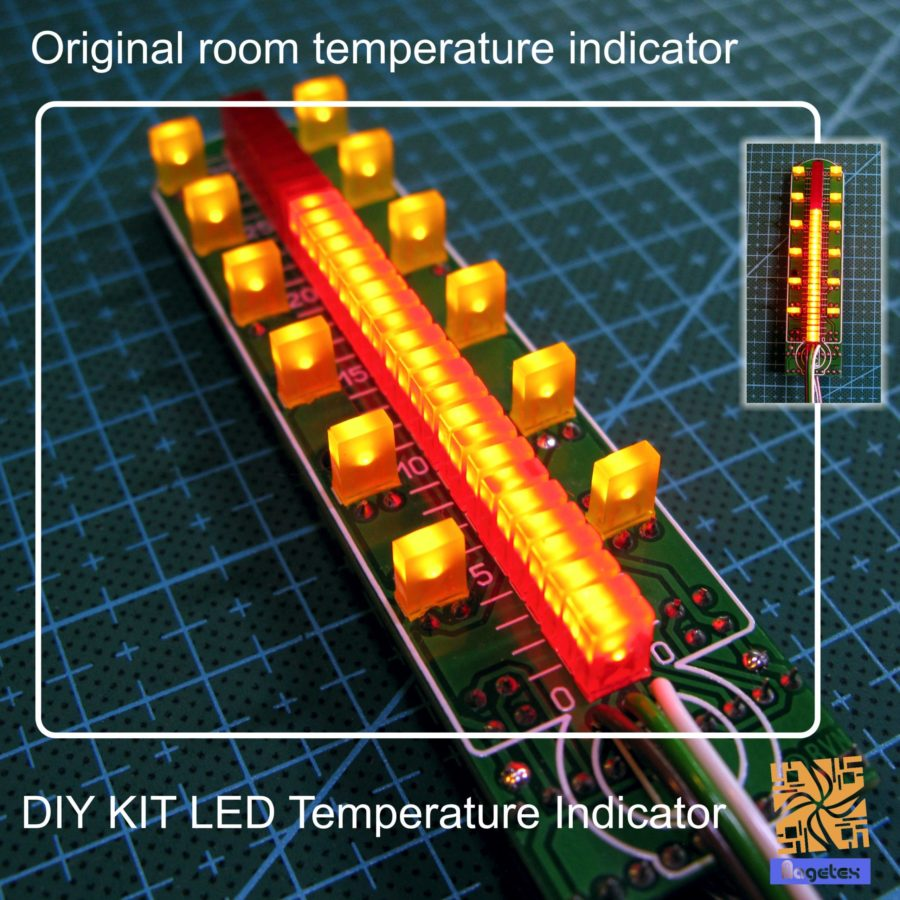 DIY KIT LED Room Temperature Indicator - Description English